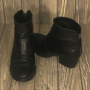 Nine West Leather Black Booties